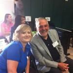 VEA President Christal Watts and CTA President Dean Vogel enjoy Common Ground.